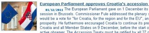 European Parliament accepts Accession Treaty