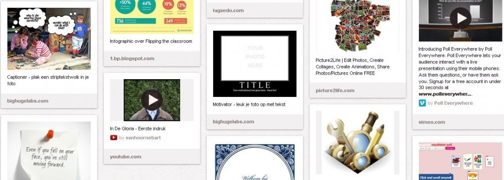 Variety of tools shared, collected on Pinterest